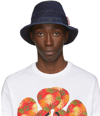 DSQUARED2 Navy Denim Bucket Hat