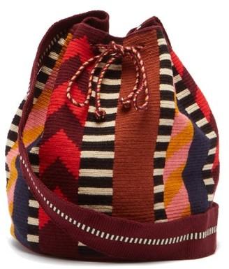 Guanabana - Harare Stripe-woven Bucket Bag - Multi