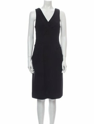 Oscar de la Renta 2011 Midi Length Dress Wool