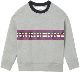 Burberry Boy's Marlon Logo Stripe Sweatshirt, Size 3-14