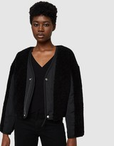Alexander Wang Twill Bomber Jacket with Shearling