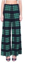 Circus Hotel Wool Checked Trousers