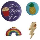Trimmings Women's 4 piece pin set - Banana - Multicolor