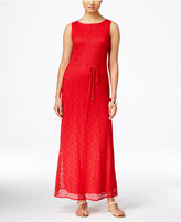 Sandra Darren Sleeveless Lace Maxi Dress