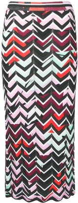Emilio Pucci Alex chevron pencil skirt