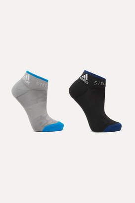 adidas by Stella McCartney Parley For The Oceans Set Of Two Stretch-knit Socks - Gray