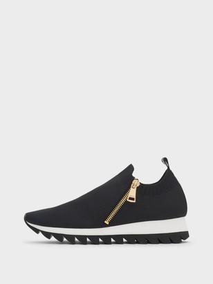 DKNY Women's Azza Slip-on Sneaker - Black - Size 6