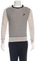 Balenciaga Wool Striped Logo Sweater