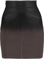 Just Cavalli Ombr&eacute stretch-knit mini skirt