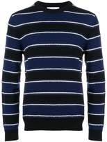 Salvatore Ferragamo striped crew neck jumper