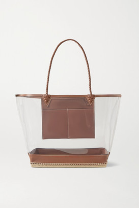 Altuzarra Espadrille Large Leather-trimmed Pvc Tote - Clear
