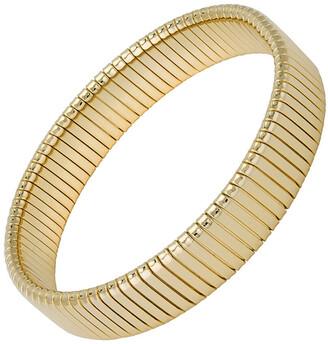 Janis Savitt Small Flat Rib Cobra Yellow Gold Plated Bracelet