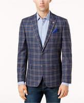 Ben Sherman Men's Slim-Fit Blue/Red Plaid Sport Coat