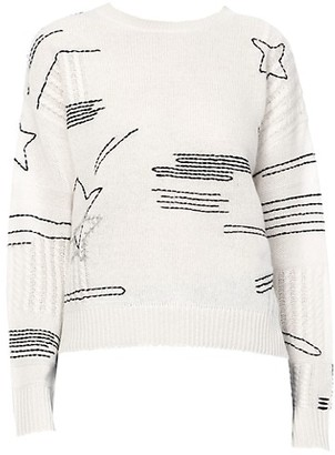 360 Cashmere Starlet Stitched Star Cashmere Sweater