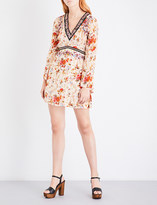 The Kooples Fleurs d'Artifice floral-print crepe dress