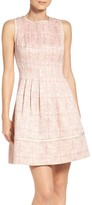 Vince Camuto Women's Jacquard Fit & Flare Dress