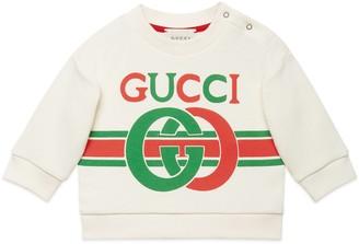 Gucci Baby Interlocking G print cotton sweatshirt