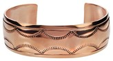 Journee Collection Women's Handcrafted Textured Cuff Bracelet in Copper - Copper