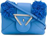 Sara Battaglia frayed detail crossbody bag - women - Calf Leather - One Size