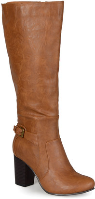 Bella Cora Women's Casual boots Tan - Tan Carver Wide-Calf Boot - Women