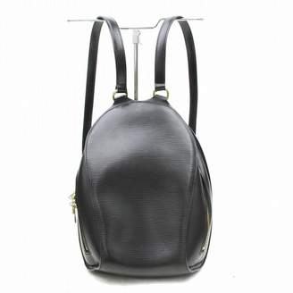 Louis Vuitton Black Leather Backpacks