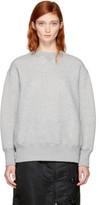 Sacai Grey Lace-up Sponge Sweatshirt