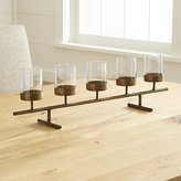 Crate & Barrel Asta Brass Tea Light Centerpiece