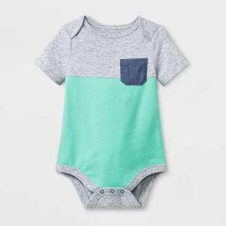 Cat & Jack Baby Boys' Short Sleeve Color Block Bodysuit - Cat & JackTM Green