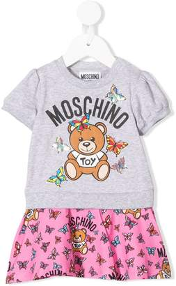 MOSCHINO BAMBINO T-shirt layered dress