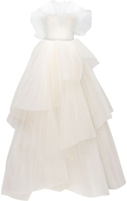 GEORGES HOBEIKA Tulle Meringue Dress