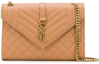 Saint Laurent Envelope quilted shoulder bag