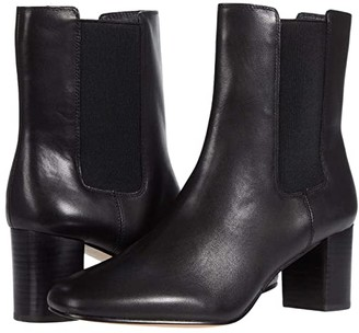 J.Crew Leather Chelsea Stacked Mckay Boot (Black) Women's Shoes