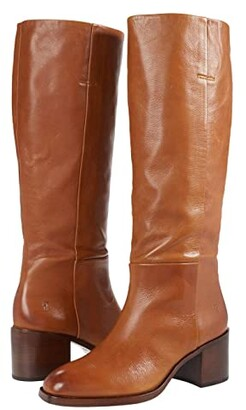Frye Monroe Pull-On Tall (Cognac Polished Soft Full Grain) Women's Boots