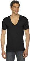 American Apparel Unisex Sheer Jersey Short Sleeve Deep Vneck 6456 - L
