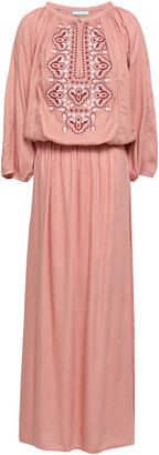 Melissa Odabash Sienna Embroidered Voile Maxi Dress