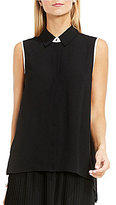 Vince Camuto Sleeveless Collared Button Down Shirt