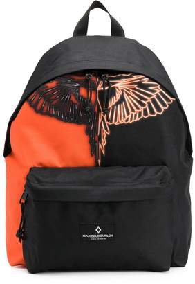 Marcelo Burlon County of Milan Kids two-tone wings backpack