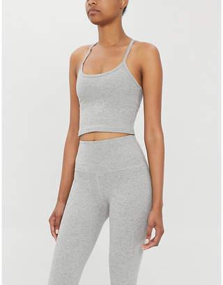 Beyond Yoga Spacedye Slim racerback stretch-jersey sports crop top