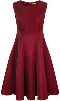 Evans **Chi Chi London Burgundy Skater Dress