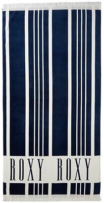 Roxy Can't Wait Beach Towel (Dress Blues Vertical Stripes) Bath Towels