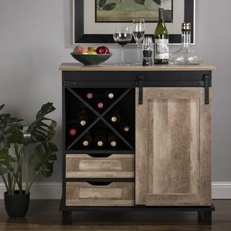 Gracie Oaks Binns Wine Bar Cabinet