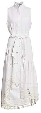 Derek Lam 10 Crosby Women's Nerioa Lace Insert Tie-Wiast Maxi Dress