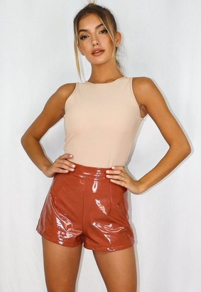 Missguided Vinyl Shorts