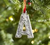 Pottery Barn Silver Mercury Letter Ornaments