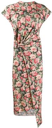 Paco Rabanne Paisley-Floral Print Wrap Dress