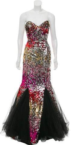 Jovani Strapless Sequined Gown w/ Tags
