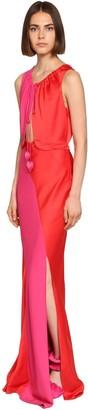 Lanvin Bicolor Satin Dress