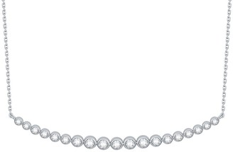 Lab Grown Diamond Smile Necklace, 1/2 Ctw 10K Solid Gold by Smiling Rocks