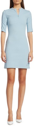 artica-arbox Zip-Front Piping Dress