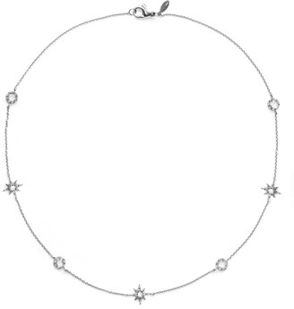 Anzie Starburst White Topaz Charm Necklace